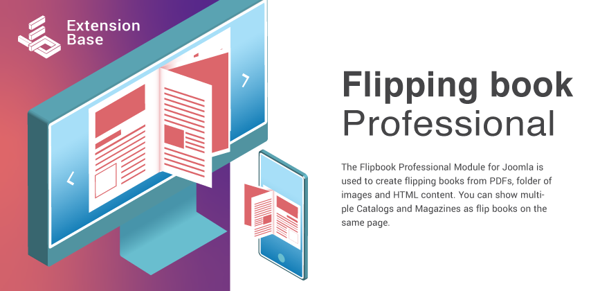 Joomla Flipbook Professional - Show PDFs and Images as flipping books