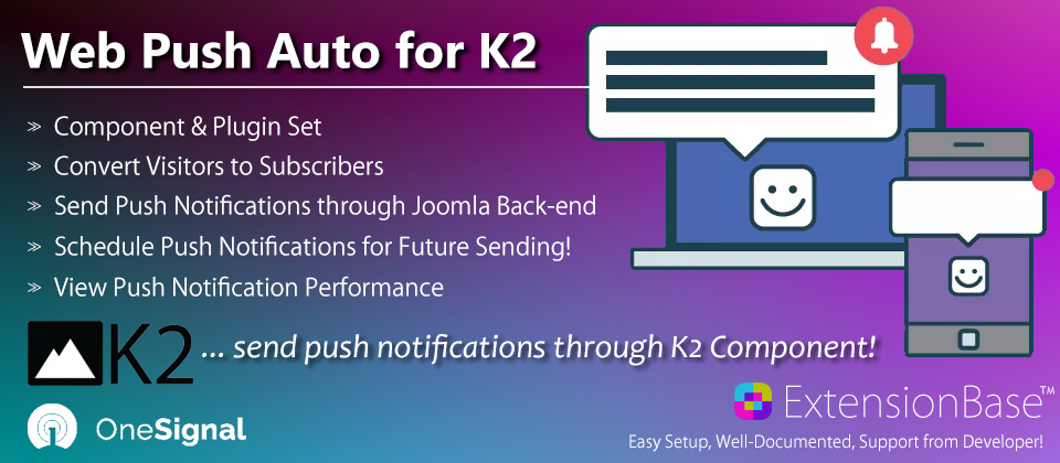 K2 Web Push Notifications Auto